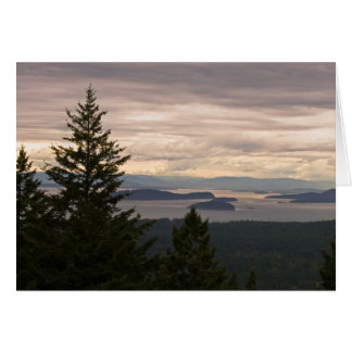 Customizable Greeting Card: San Juan Islands Pano Card