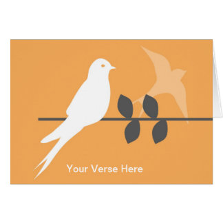 Customizable Greeting Card-Swallows in the Orchard Greeting Card