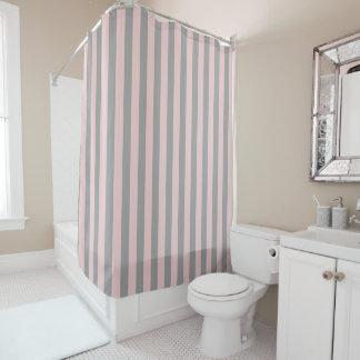 Customizable Grey Stripes Shower Curtain