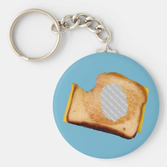 Customizable Grilled Cheese Sandwich Keychain