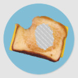 Customizable Grilled Cheese Sandwich Round Stickers