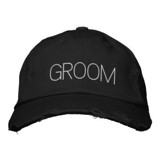 Customizable Groom Hat Embroidered Baseball Caps