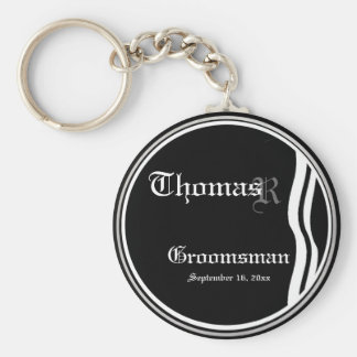 Customizable Groomsman Keepsake Keychain