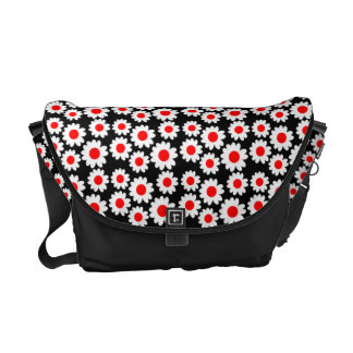 Customizable Groovy Daisies Messenger Bags