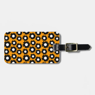 Customizable Groovy Daisies Tag For Luggage