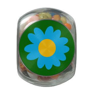 Customizable Groovy Daisy Glass Jars