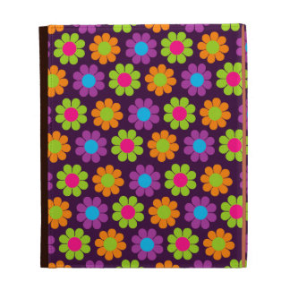 Customizable Groovy Flower Power Daisies iPad Case