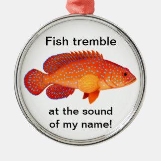 Customizable Grouper Fishing Ornament