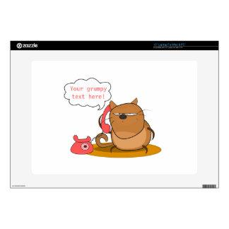 "Customizable Grumpy Cat 15"" Laptop Decal"