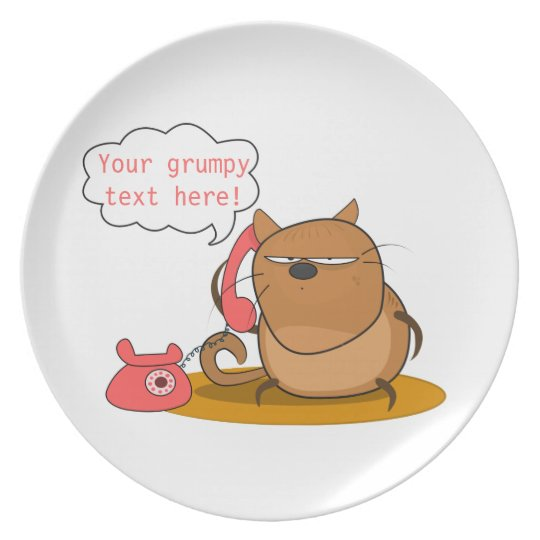 Customizable Grumpy Cat Plate