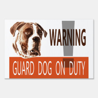 Customizable Guard Dog No Trespassing Yard Sign