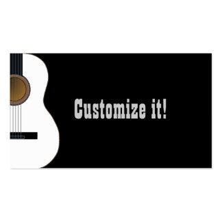 Customizable Guitar Music Business Card