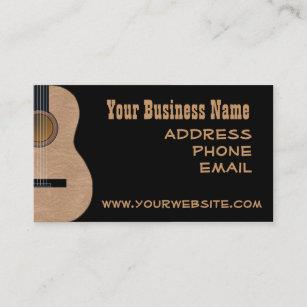 guitar business cards zazzle