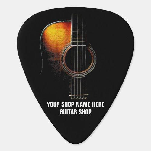 Customizable Guitar Pick Guitar Shop or Teacher