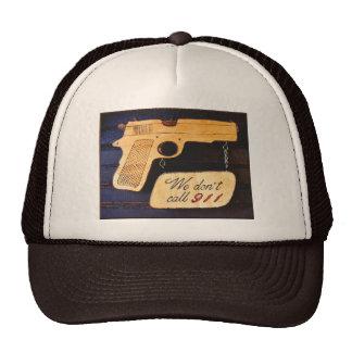 Customizable Gun Humor Trucker Hat