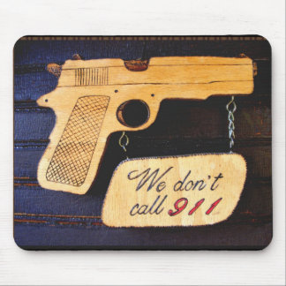 Customizable Gun Humor Mouse Pad