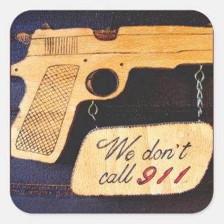 Customizable Gun Humor Square Sticker