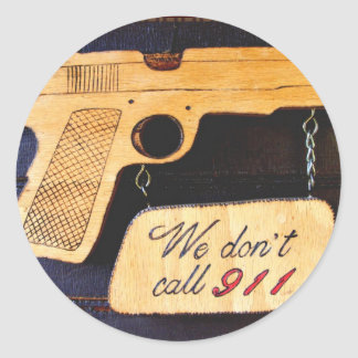 Customizable Gun Humor Stickers