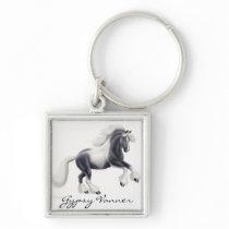 Customizable Gypsy Vanner Cob Horse Keychain
