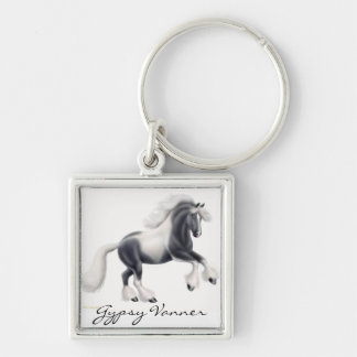 Customizable Gypsy Vanner Cob Horse Keychain
