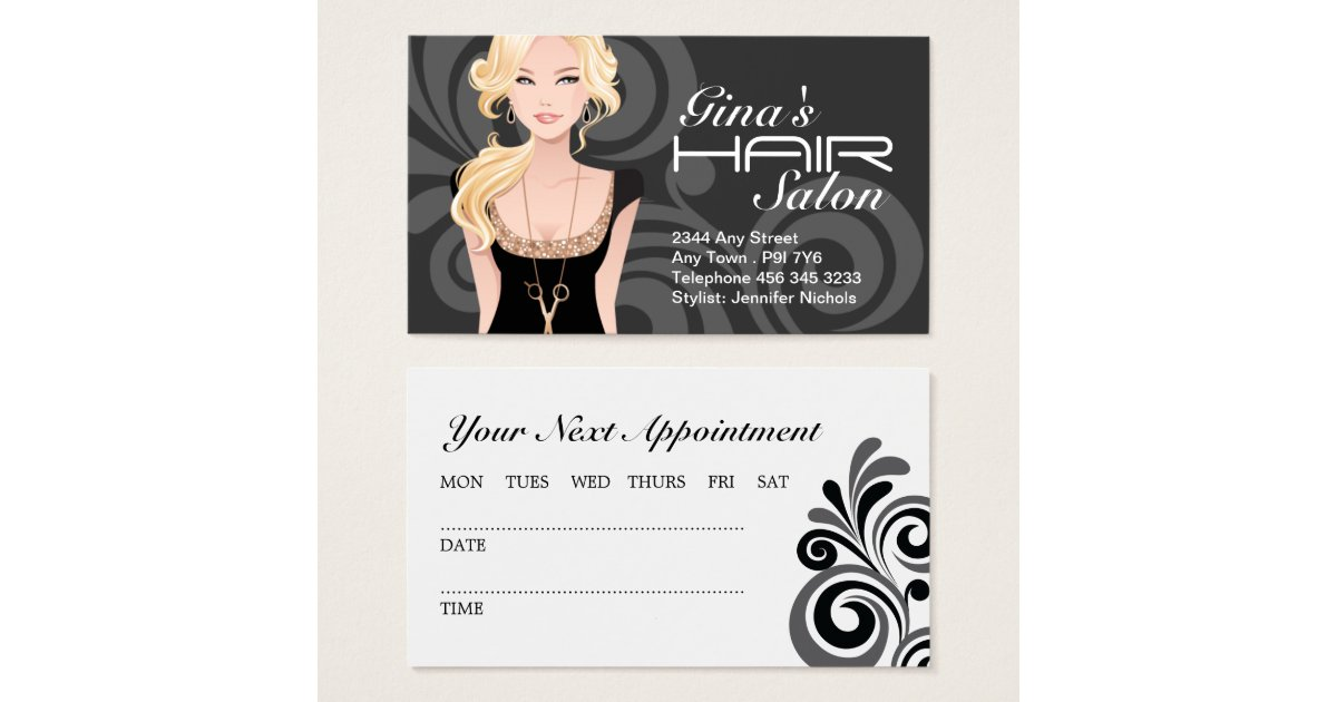 Customizable hair salon business cards zazzle for Ada beauty salon