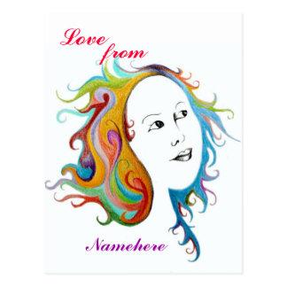 Customizable: Hair style Postcard