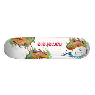 Customizable: Hair style Skateboard Deck