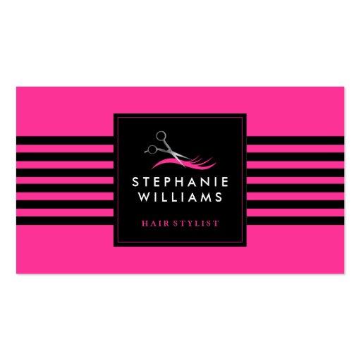 Customizable hair stylist business card template zazzle for Hairdresser business card templates