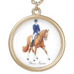 Customizable Half Pass Dressage Horse Necklace