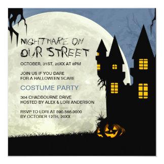 "Customizable Halloween Costume Party Invitation 5.25"" Square Invitation Card"