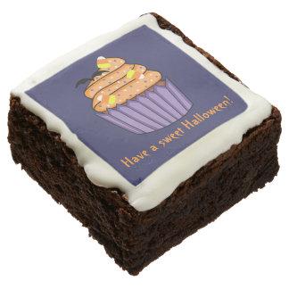 Customizable Halloween Cupcake Chocolate Brownie