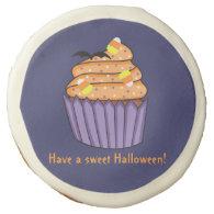 Customizable Halloween Cupcake Sugar Cookie