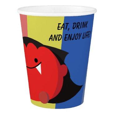 Halloween Themed Customizable Halloween - Cute Mochi Friends Paper Cup