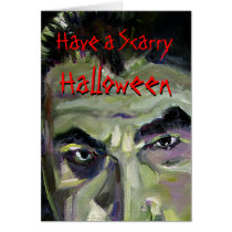 halloween, dracula, bela lugosi, vampires, scarry, goolish, green, black, fear, oil painting, holidays, eyes, fright, night, bats, Card with custom graphic design