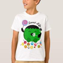 Customizable Halloween - Frankenstein and Candies T-Shirt