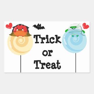 Customizable Halloween - Mochi Candy Lovers Rectangular Sticker