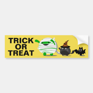 Customizable Halloween - Mochi Mummy Leader Bumper Sticker