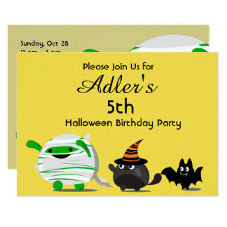 Customizable Halloween - Mochi Mummy Leader Card