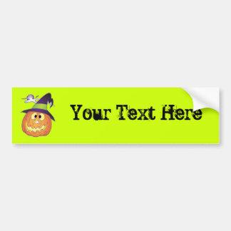 Customizable Halloween Pumpkin Car Bumper Sticker