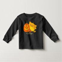 Customizable Halloween - Pumpkin Cat Toddler T-shirt
