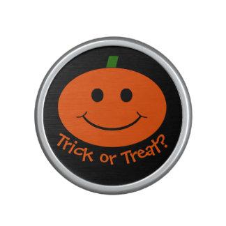 Customizable Halloween Pumpkin Smiley Speaker