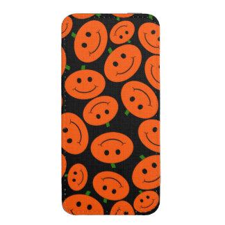 Customizable Halloween Pumpkin Smileys iPhone 5 Pouch