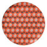 Customizable Halloween Skull Topiary Party Plate