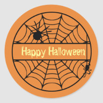 Customizable Halloween Spider Web Sticker