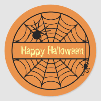 customizable halloween spider web sticker - Halloween Spider