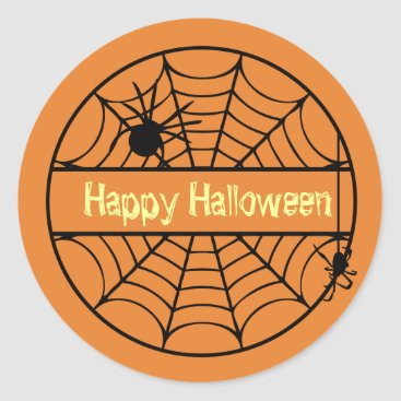 Halloween Themed Customizable Halloween Spider Web Sticker