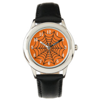 Customizable Halloween Spider Web Wristwatch