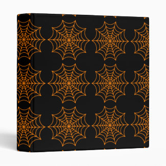 Customizable Halloween Spider Webs Binder