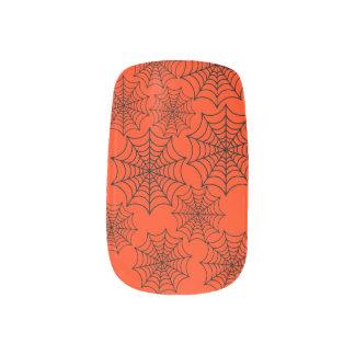 Customizable Halloween Spider Webs Minx Nail Art