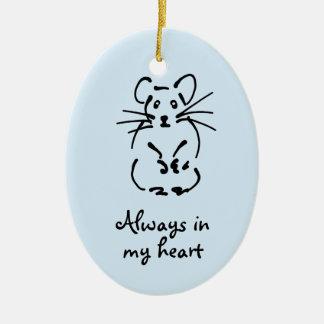 Customizable Hamster Memorial Ornament